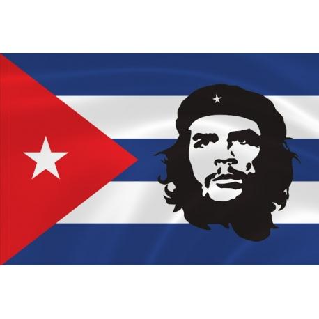 Флаг с Че Геварой кубинский