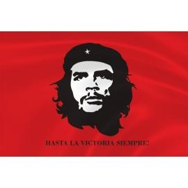 Флаг с Че Геварой красный