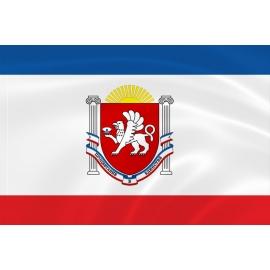 Флаг Крыма с гербом