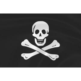 """Пиратский флаг №1 (""""череп и кости"""" Эдварда Инглэнда)"""