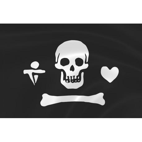 Флаг пирата Стида Боннета