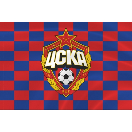 Флаг клуба «ЦСКА» клетка
