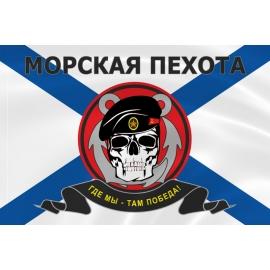 Флаг морской пехоты череп