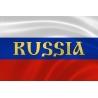 """Российский флаг с надписью """"Russia"""""""
