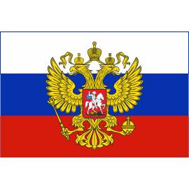 Флаги России с гербом