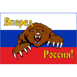 Флаги России с медведем